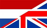 Combined flag of the Netherlands and United Kingdom